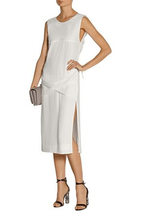 DION LEE Draped crepe midi dress
