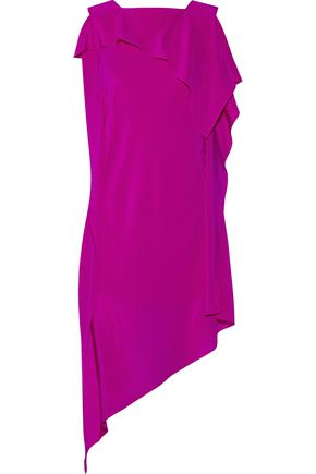ACNE STUDIOS Barrow asymmetric silk crepe de chine dress