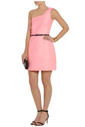 VICTORIA, VICTORIA BECKHAM One-shoulder jacquard mini dress