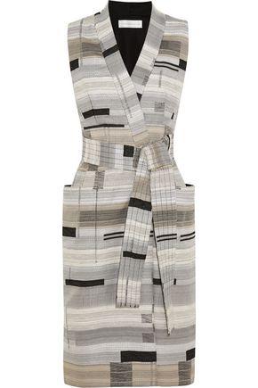 VICTORIA, VICTORIA BECKHAM Wrap-front jacquard dress