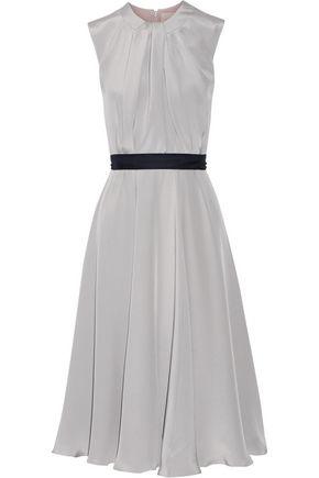 ROKSANDA Sessler color-block pleated silk-crepe dress