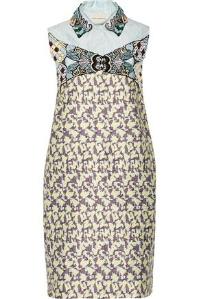 MARY KATRANTZOU Taby embellished jacquard mini dress