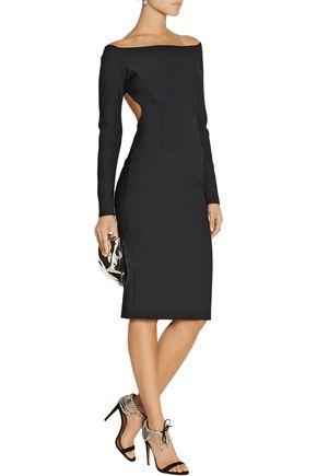 HANEY Open-back crepe dress