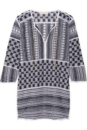 MICHAEL MICHAEL KORS Embroidered cotton-blend gauze tunic