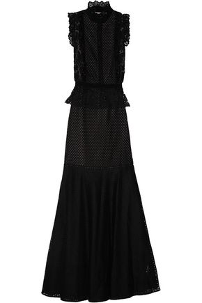 ERDEM Roni lace and broderie anglaise gown