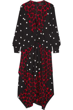 PROENZA SCHOULER Layered printed crepe midi dress