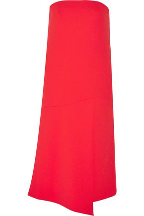 TIBI Strapless stretch-crepe dress