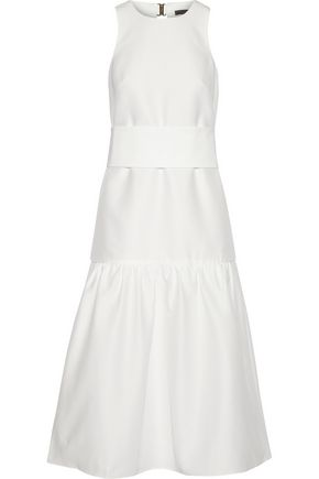 TIBI Open-back faille midi dress