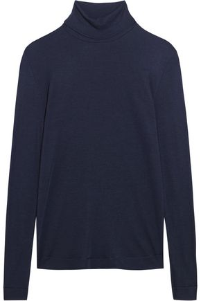 HANRO Silk and cashmere-blend jersey turtleneck top