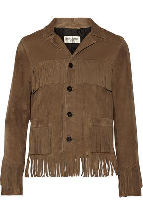 SAINT LAURENT Curtis fringed suede jacket