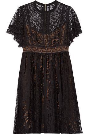 ELIE SAAB Guipure lace mini dress