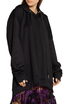 MARQUES ' ALMEIDA Oversized cotton-blend hooded top
