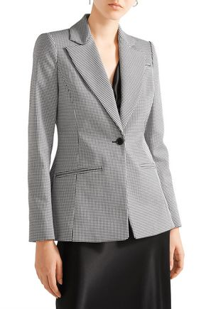 ALTUZARRA Acacia houndstooth stretch-cotton blazer