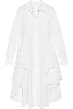 CO Asymmetric layered cotton-poplin shirt