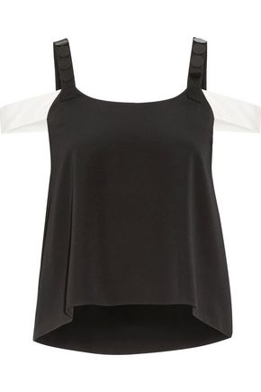 MAIYET Embellished silk-crepe top