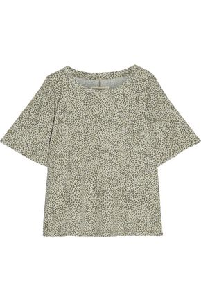 CURRENT/ELLIOTT The Roadie leopard-print cotton-jersey T-shirt