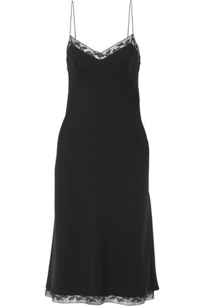 THE ROW Santi lace-trimmed silk-crepe dress