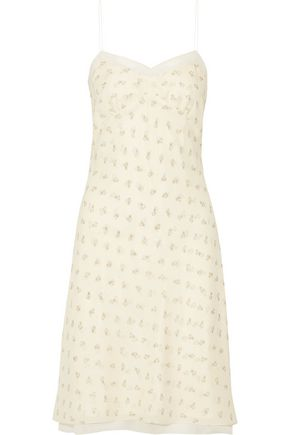 THE ROW Santi lace-trimmed floral-print silk-georgette dress