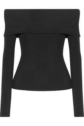 THE ROW Derian off-the-shoulder stretch-jersey top