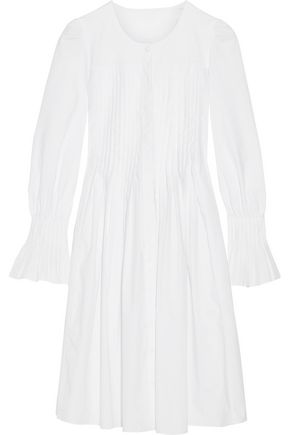 CO Pleated cotton-poplin dress