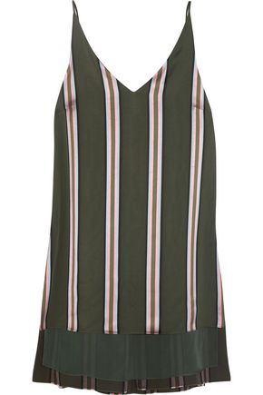 ADAM LIPPES Striped satin top
