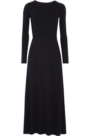 ELIZABETH AND JAMES Caden tie-back ribbed stretch-knit maxi dress