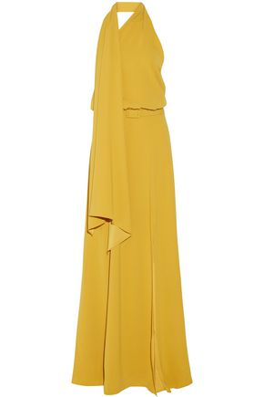 CO One-shoulder washed-satin gown