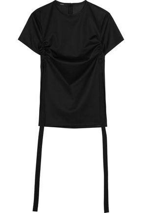 •ELLERY• Menagerie canvas-trimmed cotton-jersey top