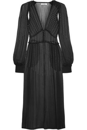 ATTICO Ginger embellished silk-georgette dress