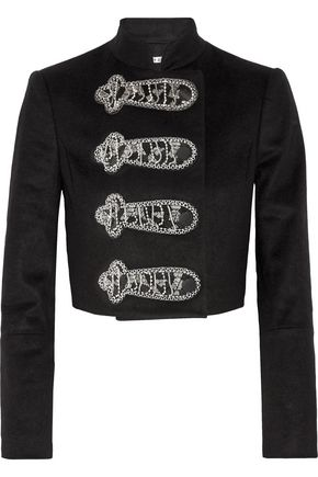 ALICE + OLIVIA Josette embellished wool-blend jacket