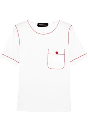 VANESSA SEWARD Embroidered cotton-jersey T-shirt