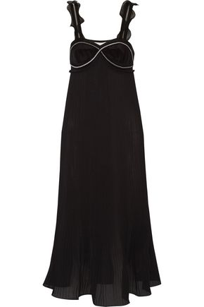 3.1 PHILLIP LIM Zip-embellished plissé-georgette dress