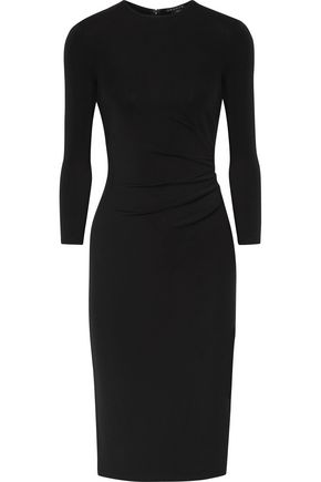 THEORY Jorainna gathered stretch-jersey dress