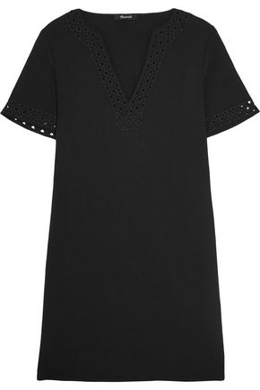 MADEWELL Gabby cutout crepe mini dress
