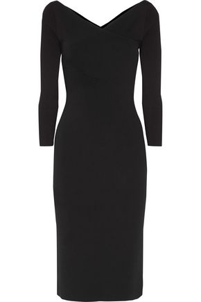 THEORY Wrap-effect stretch-knit dress
