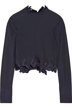 3.1 PHILLIP LIM Asymmetric embroidered cotton-poplin top