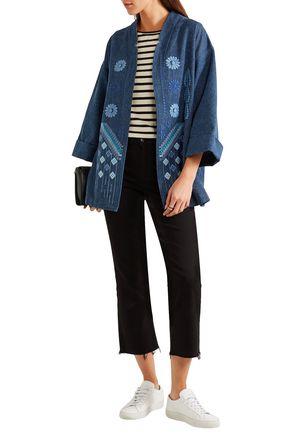 M.I.H JEANS Embroidered denim jacket; M.I.H JEANS Embroidered denim jacket  ...