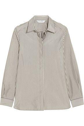 MAX MARA Striped crepe de chine shirt