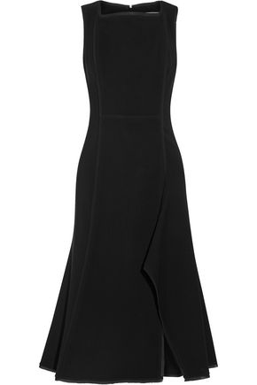 JASON WU Chiffon-trimmed stretch-crepe dress