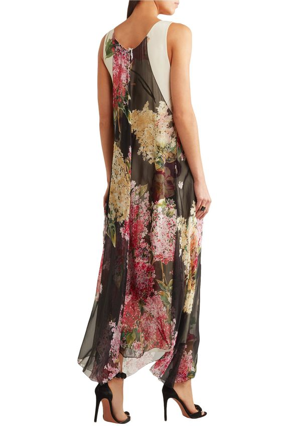 Floral-print silk-chiffon and crepe de chine gown | LANVIN | Sale up to 70%  off | THE OUTNET