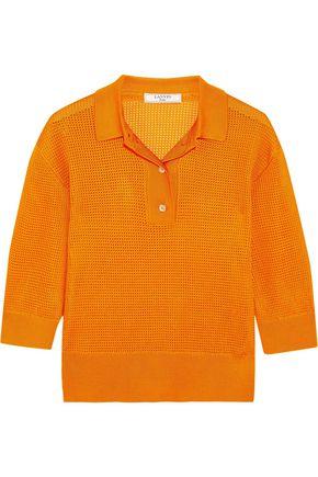 LANVIN Waffle-knit polo shirt