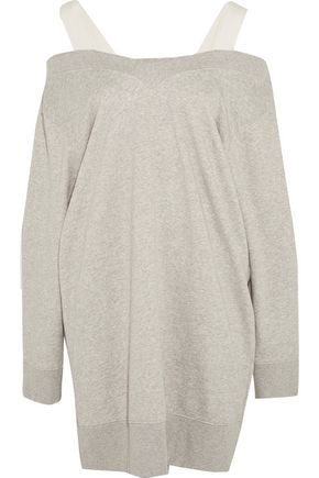 MM6 by MAISON MARGIELA Canvas-trimmed stretch cotton-blend jersey sweater dress