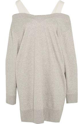 MM6 by MAISON MARGIELA Canvas-trimmed stretch cotton-blend jersey sweater dress
