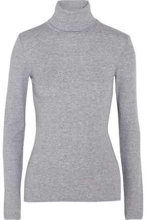 SPLENDID Supima cotton and modal-blend jersey turtleneck top