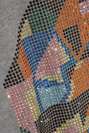 CHRISTOPHER KANE Geometric swarovski crystal-embellished jersey sweatshirt