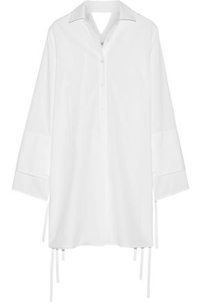 TOME Cutout cotton-poplin dress
