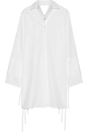 TOME Cutout cotton-poplin dress