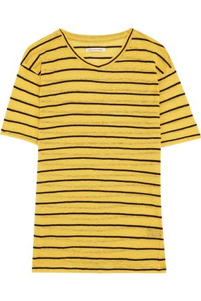 ISABEL MARANT ÉTOILE Andreia striped slub linen and cotton-blend jersey T-shirt