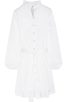 OPENING CEREMONY Ruffled stretch-cotton poplin mini dress