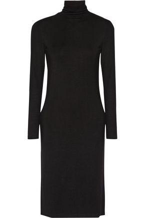 JAMES PERSE Stretch-jersey turtleneck dress